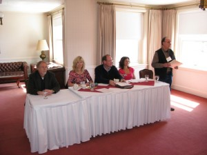 Authors sitiing at a panel in Spokane.